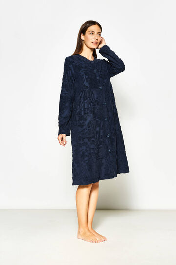 Floral patterned dressing gown in cotton