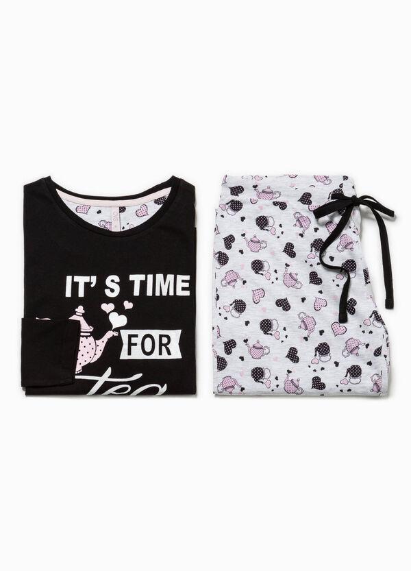 Patterned pyjamas with print | OVS