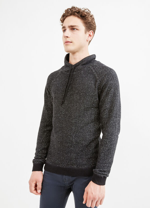 100% cotton sweatshirt with high neck and drawstring | OVS