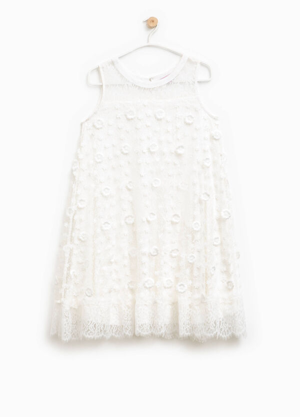 Lace dress with flowers | OVS