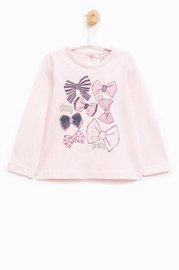 T-shirt maniche lunghe con stampa, Rosa chiaro, hi-res