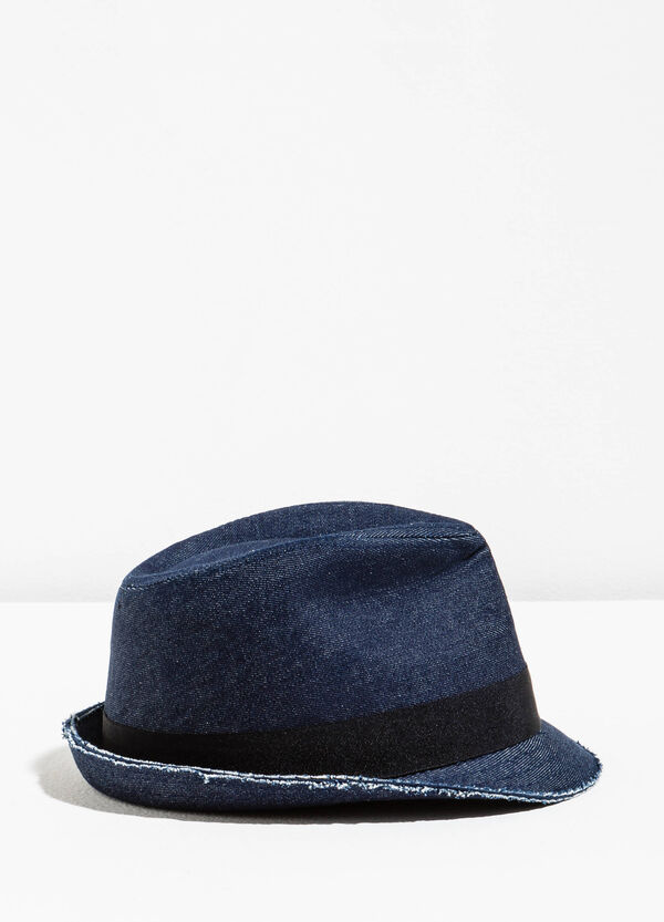 Wide-brimmed hat with raw edge | OVS