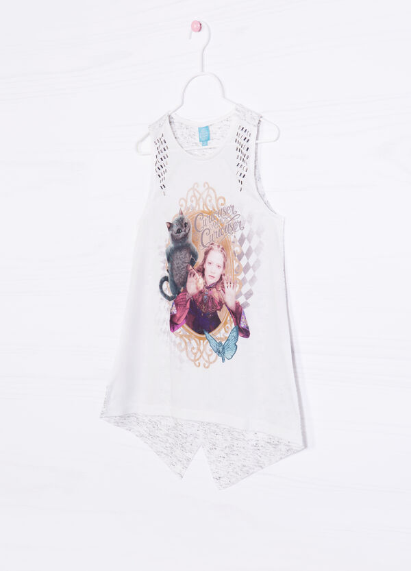 100% cotton printed vest top | OVS