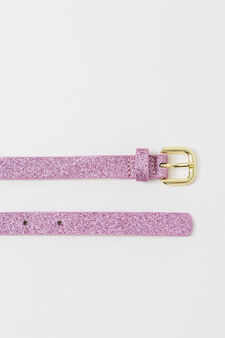 Slim belt with glitter, Fuchsia, hi-res