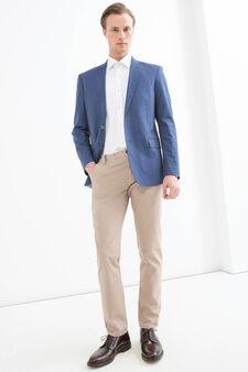 Giacca regular fit puro cotone, Blu, hi-res