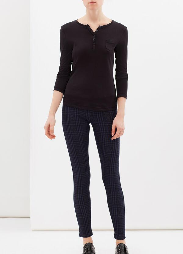 Stretch leggings with geometric leggings | OVS