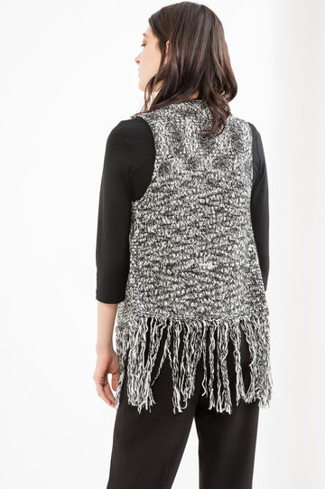 Sleeveless knit cardigan, White, hi-res