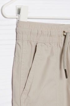 100% cotton trousers with patch, Beige, hi-res