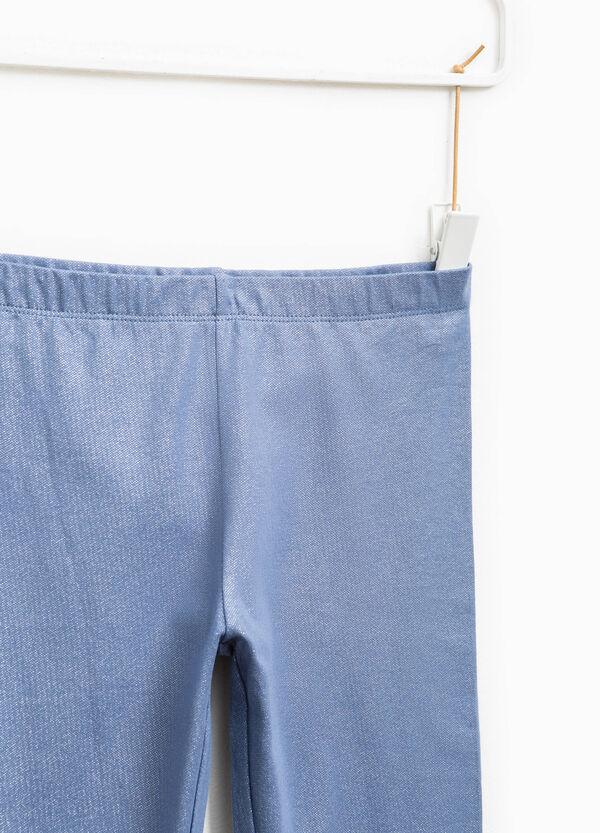 Stretch cotton glitter leggings | OVS