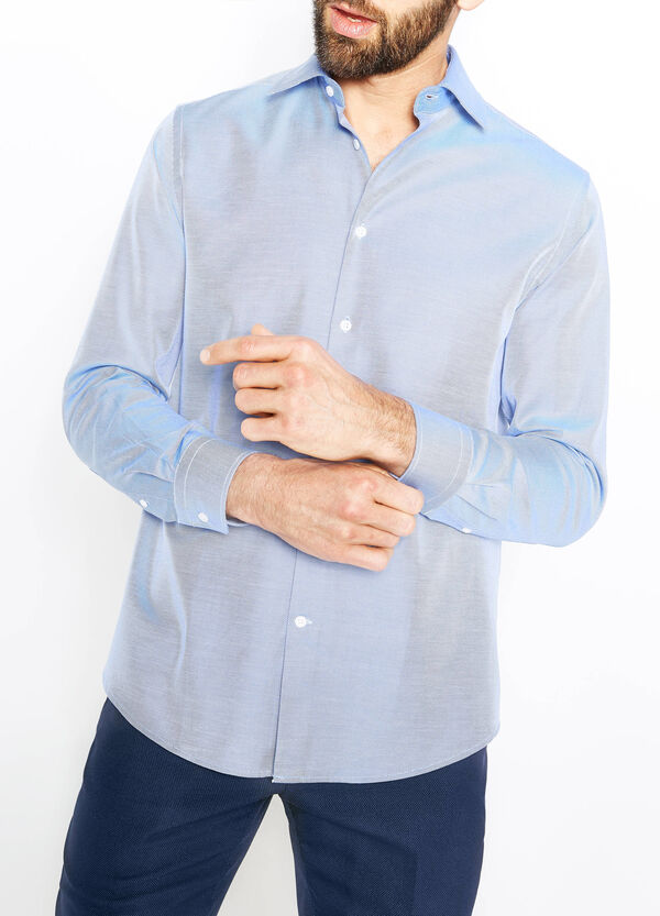 Regular-fit formal shirt with oblique stripes | OVS