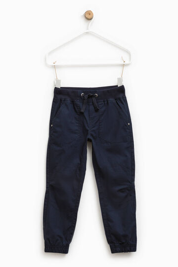 Trousers with elasticated ankles