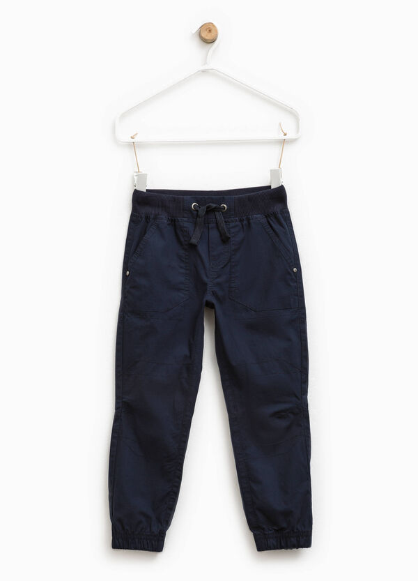 Trousers with elasticated ankles | OVS