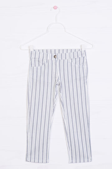 Pantaloni stretch fantasia a righe, Multicolor, hi-res