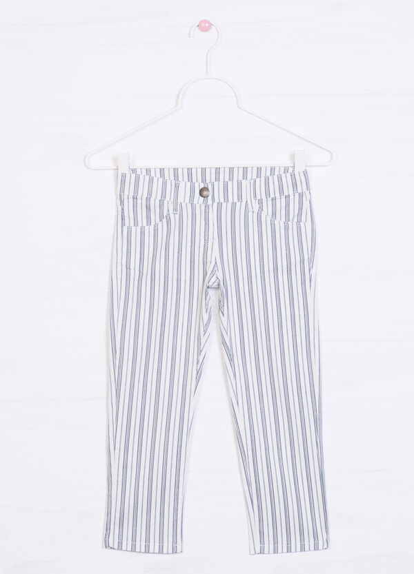 Striped pattern stretch trousers | OVS