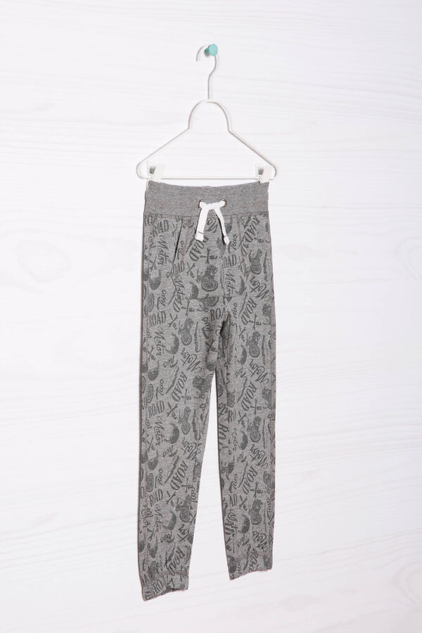 Cotton joggers with all-over print | OVS