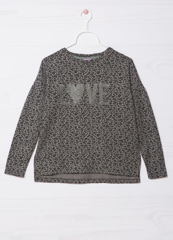 Glitter print patterned pullover | OVS