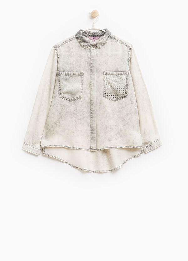 Camisa en algodón 100% con efecto teñido desigual | OVS