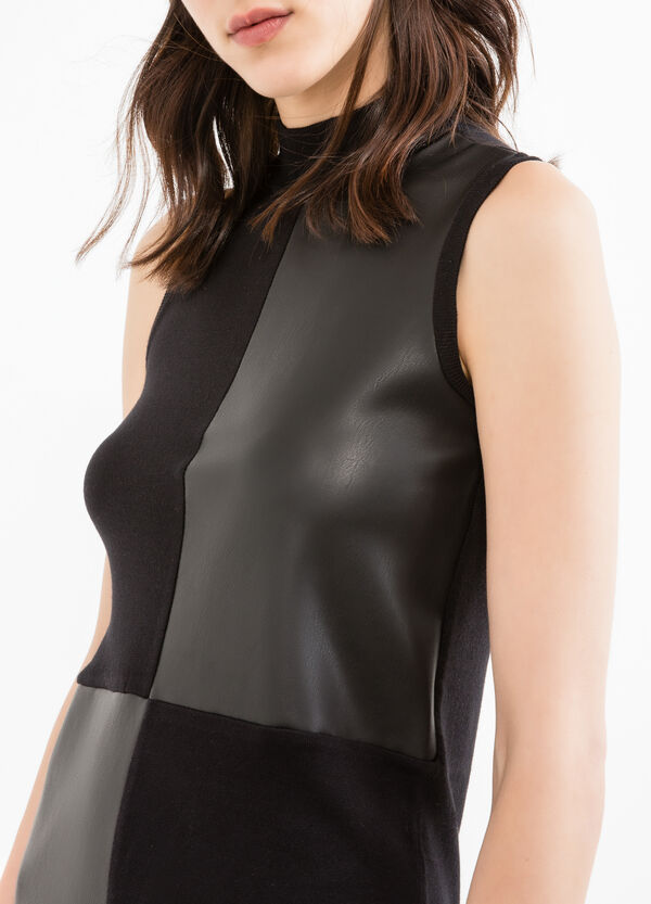 Sleeveless dress in viscose blend. | OVS