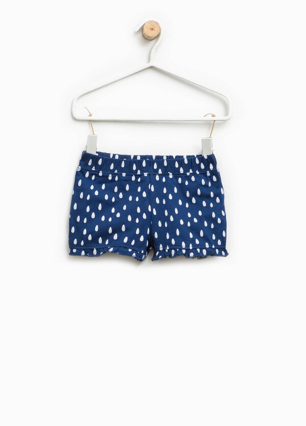 Shorts with flounce and all-over print | OVS