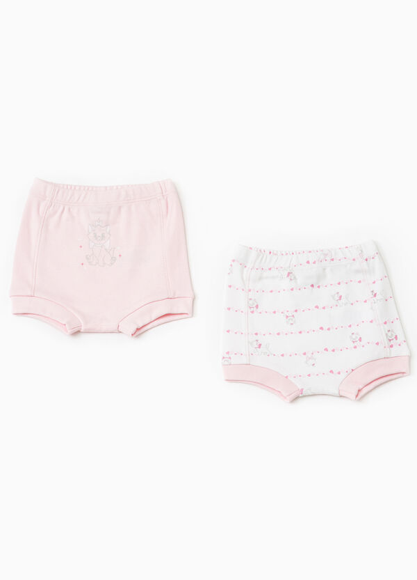 Two-pack stretch cotton Aristocats French knickers | OVS
