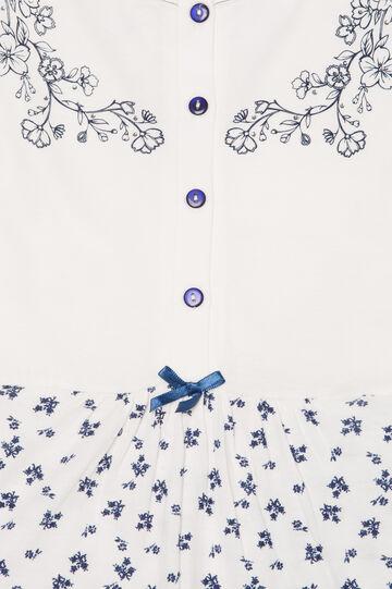 Printed nightshirt, White, hi-res