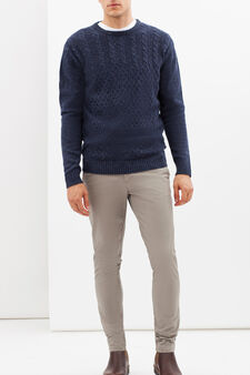 Slim fit stretch Chinos, Dove Grey, hi-res