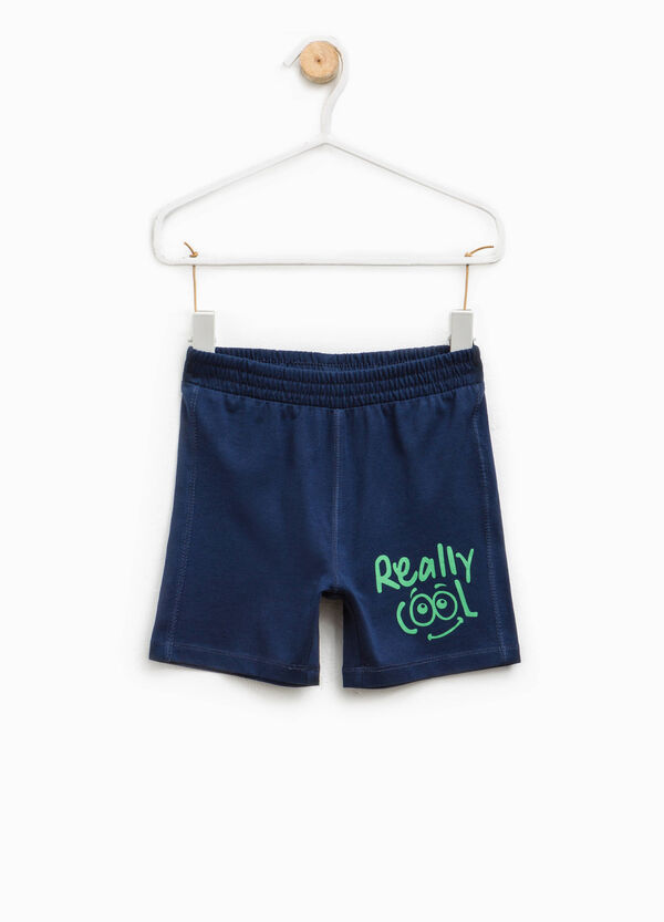Shorts with printed lettering | OVS