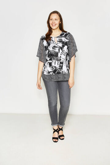 Blusa con stampa all-over Curvy