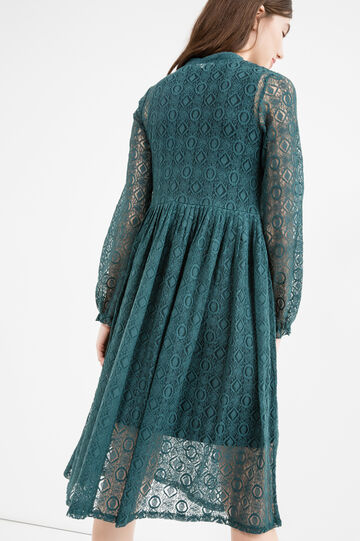 Dress with long sleeves, Teal Green, hi-res