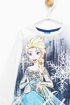100% cotton pyjamas with Frozen print, White/Blue, hi-res