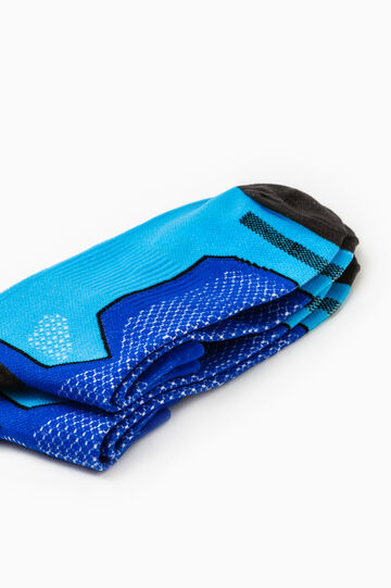 Set due paia calze stretch OVS Active Sport Training, Azzurro, hi-res