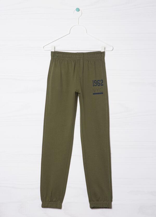 Pantaloni tuta puro cotone con stampa | OVS