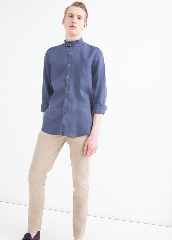 Camicia colletto coreana puro lino   OVS