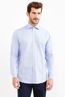 Camicia formale regular fit puro cotone, Blu chiaro, hi-res
