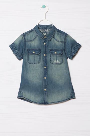Camicia di jeans delavé