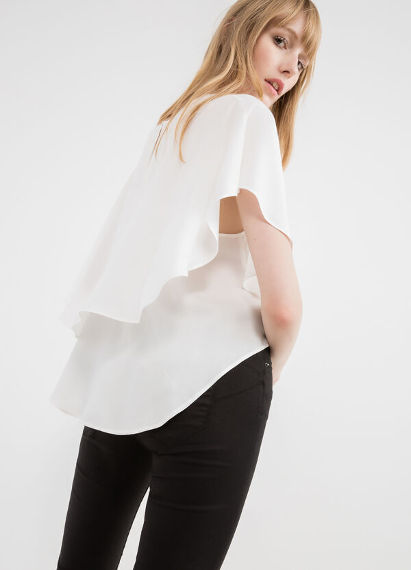 T-shirt pura viscosa con sormonto | OVS