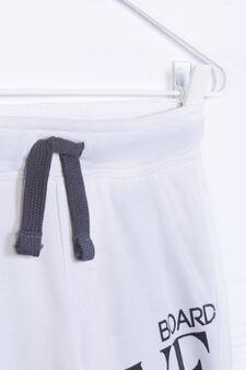 Printed shorts in 100% cotton, Cream, hi-res