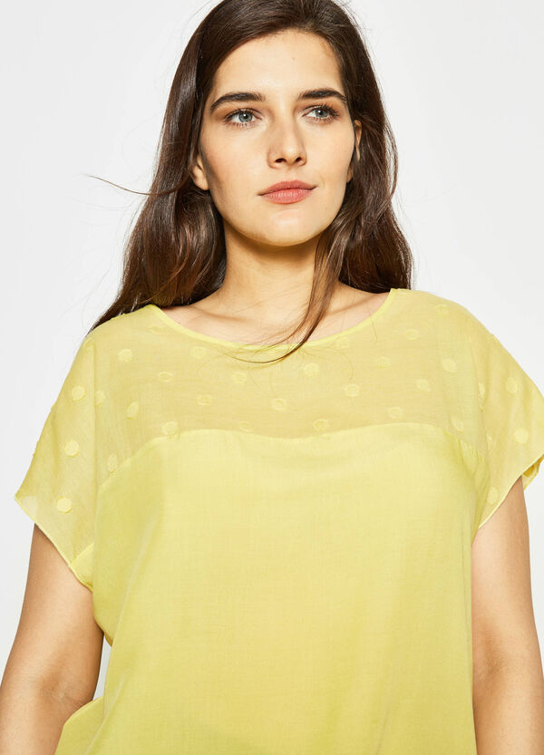 Curvy blouse with speckled weave | OVS