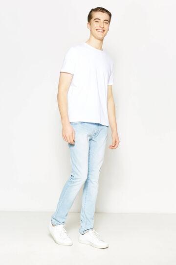 Slim-fit worn-effect jeans, Light Wash, hi-res