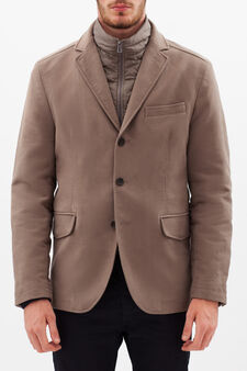 Jacket with removable down liner, Dove Grey, hi-res