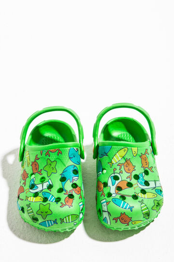 Slip-on sandals with openwork pattern