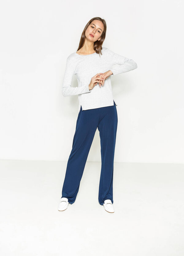 Long-sleeved T-shirt with splits | OVS