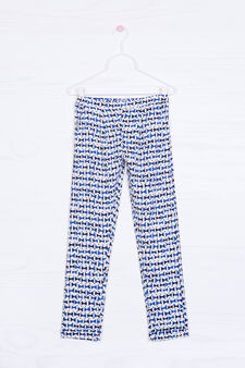 Viscose loose-fit trousers in viscose, Blue, hi-res