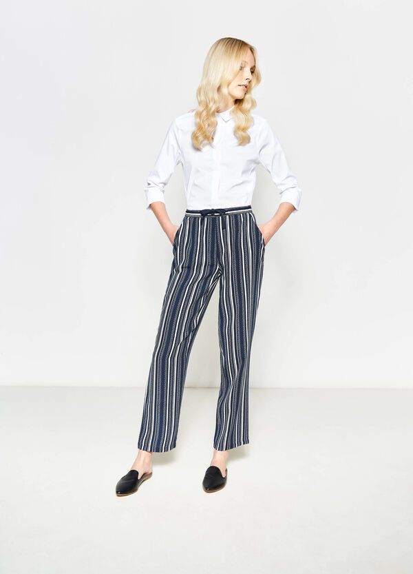 Pantaloni a righe con coulisse | OVS