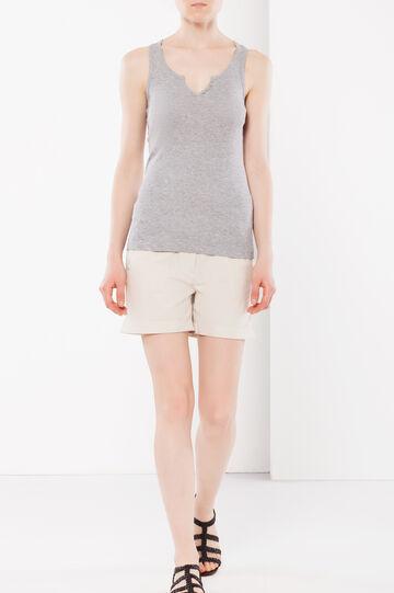 Shorts with cuffs, Beige, hi-res