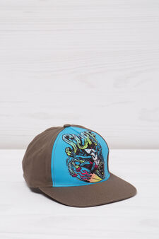 Maui and Sons printed baseball cap, Grey, hi-res