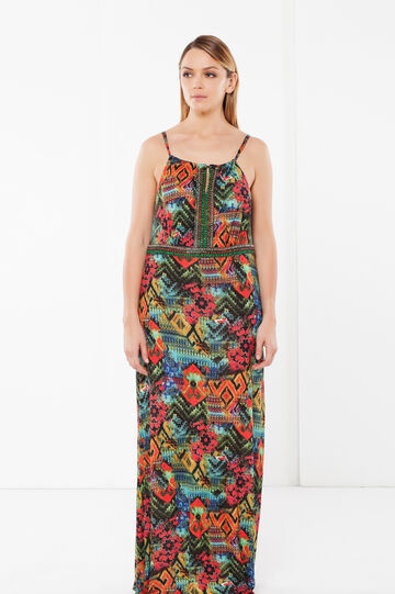 Curvyglam long dress, Multicolour, hi-res