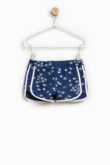 Printed shorts in stretch cotton