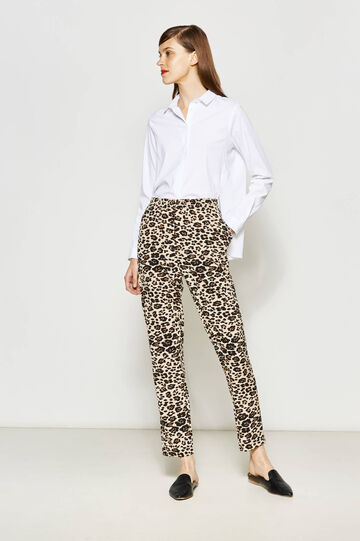 Animal patterned trousers