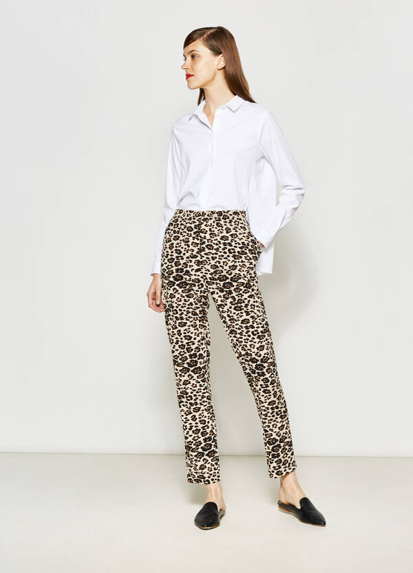 Pantalón con fantasía de leopardo | OVS